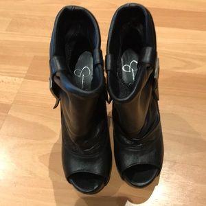 Jessica Simpson open toe booties